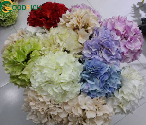 Single Stem Cut Flower Hydrangea Touch Soft Velvet