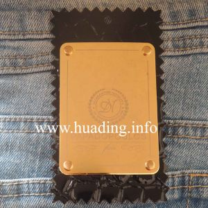 Customized Leather Patch with Metal Plate for Jeans (PA-14) pictures & photos