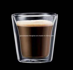 Double Wall Tumbler Glass Cup (B-DBW24) pictures & photos