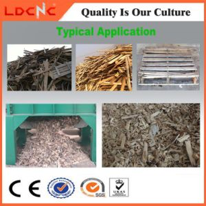 Waste Wood Pallet Twin Shaft Shredder Machine Manufacturer pictures & photos