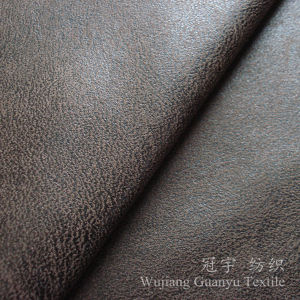 Bronzing Suede Leather Microfiber Nubuck Fabric for Sofa pictures & photos