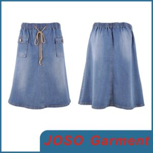 Girls Mellow Blue Jean Skirts (JC2043) pictures & photos