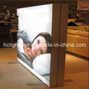 Double Side Frameless LED Light Box with Tension Fabric