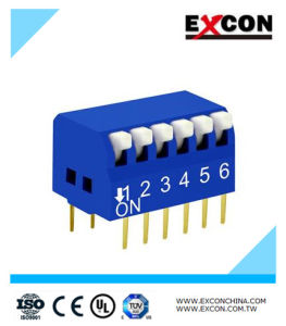 Waterproof 6keys Slide Micro Switch Excon Rpl-06-B Blue Color