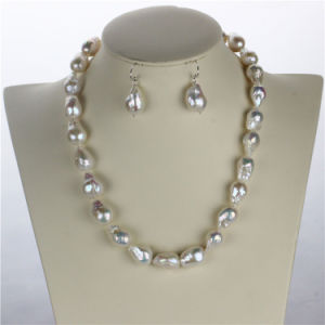 Snh 12mm AA+ Edison White Freshwater Bridal Pearl Jewelry Set