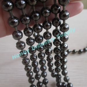 Decorative Room Divider 8mm Gunmetal Colored Metal Hollow Bead Ball Chain