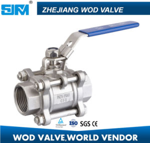 DN10 Three Piece CF8 Threaded NPT Ball Valve with Hot Selling