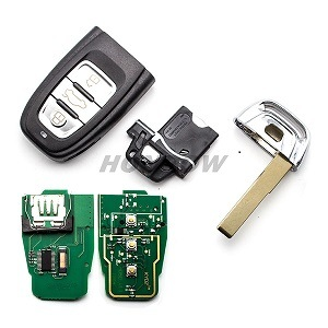 for Au A4l, Q5 3 Button Remote Key with 868MHz and 7945 Chip