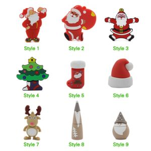 2017 hot selling christmas gift usb flash drive with free logo