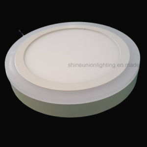 LED Two Color Surface Round Panel Light for (3 steps) (6+3) W