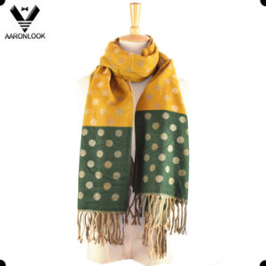 2017 New Colorway Acrylic Woven Jacquard Polka DOT Scarf
