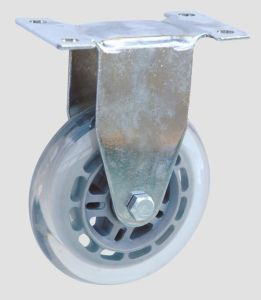 Industrial Caster Flat Transparent Caster Without Brake