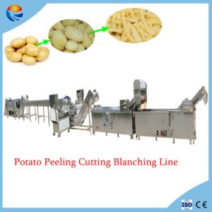 Industrial Automatic Potato Chips French Fries Peeling Cutting Blanching Cooling Machines