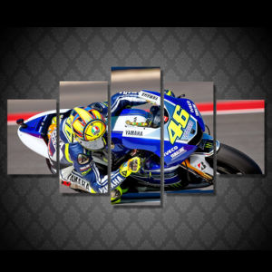 HD Printed Race Moto Painting Canvas Print Room Decor Print Poster Picture Canvas Mc-009 pictures & photos