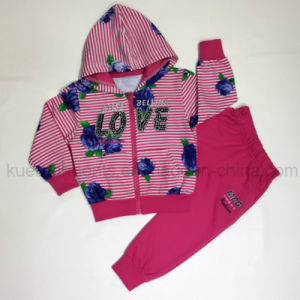 Fashion Autumn Girl Sport Suit in Kids Clothes