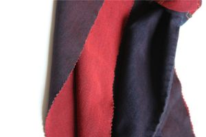 Deep Red Cotton Polyester Spandex Denim pictures & photos