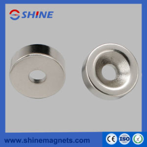 Sintered NdFeB Ring Countersink Magnet with Nickle Plated pictures & photos