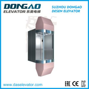 Observation Passenger Lift with Glass Cabin for Sightseeing pictures & photos