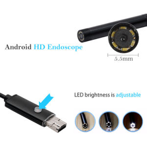 6LED 5.5mm 7mm 8mm Lens 2in1 Android Endoscope Waterproof Inspection Borescope Tube Camera 1m/2m/5m/10m OTG pictures & photos