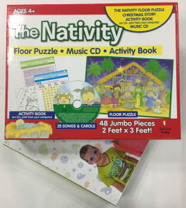 Gift Box for Children with Puzzle and Game Board