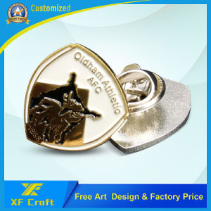 Cheap Customized Any Logo Metal Enamel Pin Badge with Butterfly Clasp (XF-BG40) pictures & photos