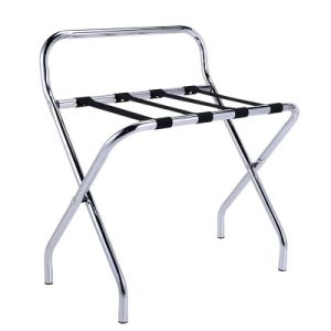 Durable Popular Hotel Metal Luggage Rack with Chrome Finish pictures & photos