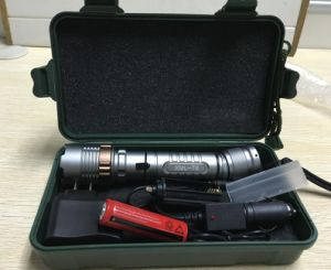 Aluminum Lighting Flashlights Zoomable Rechargeable 4000lm CREE Xml T6 LED Tactical Flashlight Torch pictures & photos