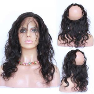360 Lace Frontal Band with Bundles Wave in Human Hair Weft