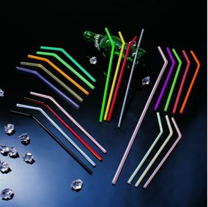 5*210mm Flexible Neon Color Plastic Straw pictures & photos