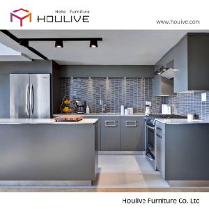 China 2017 Popular Grey Color Paint High Gloss Lacquer Mdf Kitchen