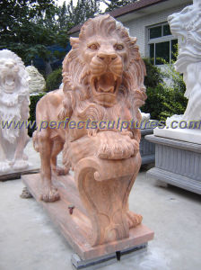 Carving Stone Marble Lion Statue Animal for Garden Sculpture (SY-D055) pictures & photos