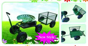 Rolling Garden Seat with Smaller Wagon Cart (GC1852A-YT) pictures & photos