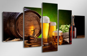 HD Printed Beer Barrel Bottle Hop Malt House Painting Canvas Print Room Decor Print Poster Picture Canvas Mc-099 pictures & photos