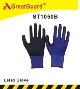 13G Liner Crinkle Surface Glass Gripper Glove (ST1050B) pictures & photos