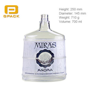 Europe USA Popular Oval Short Shape Vodka Glass Bottle Black White Whisky Ciroc Bottle of Wine Factory