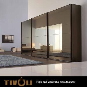 Modern Bedroom Furniture 3 Sliding Doors Glass Wardrobe TV-0309