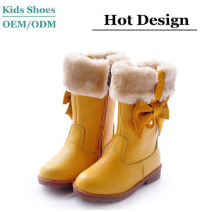 China Warm Fur Lining Leather Cute