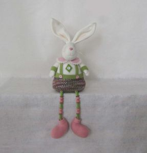 POM POM Legged Bunny Boy & Girl Easter Decoration pictures & photos