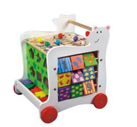 Wooden Toy Cart with Wheels for Kids 3 Years up pictures & photos