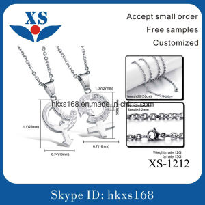 High Quality Fashionable Stainless Steel Love Charms