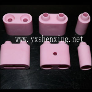 High Temperature Resistance Insulating Pink 95% Alumina Ceramic Main Body Bead with Hole