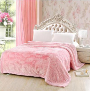 Autumn and Winter Thickening Solid and Embossed Mink Blanket (SR-B170317-8)