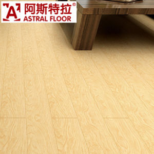 12mm AC3 Yellow Registered Embossed Click System Laminate Flooring pictures & photos