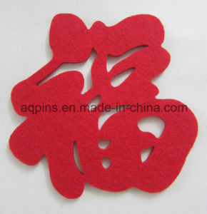 Custom Made Promotional Polyester Felt Coaster Low Price (Coaster-31) pictures & photos