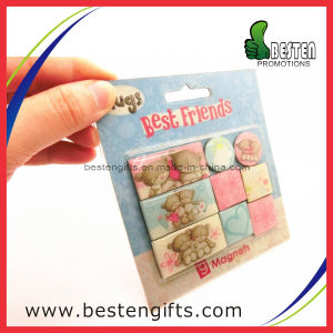 Promotional Gifts Set Epoxy Paper Fridge Magnet (FM00021)