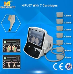 7 Cartridges Face Lift Wrinkle Removal Hifu Machine for Sale pictures & photos