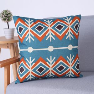 Digital Print Decorative Cushion/Pillow with Geometric Pattern (MX-59A) pictures & photos