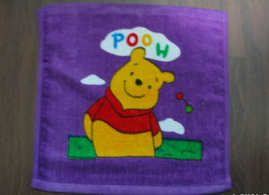Customized Velour Printed Face Towels Cu-285