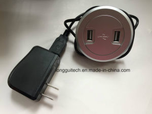 Mini Circle Socket with 2 USB Charging Lgt-USB2 pictures & photos