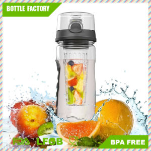 Hot Sale Fruit Water Bottle with Clock and Handle pictures & photos